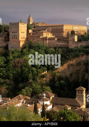 Palast von Alhambra, Granada, Andalusien, Spanien - Stockfoto