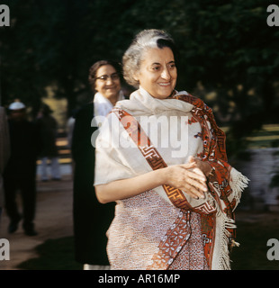 Indira-Gandhi,IndianP.M1966-1977 & 1980-1984.Only womanP.M.Daughter der Nehru.Defeated Pakistan 1971.Lst,re gewählt - Stockfoto
