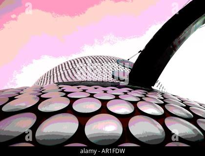Kreative Fotografie von Birmingham Selfridges Gebäude - Stockfoto