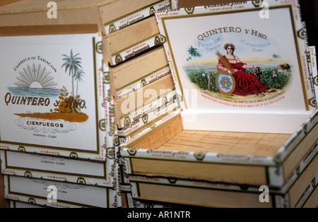 Karibik Kuba Havanna die Partagas-Fabrik-Boxen Quintero Zigarren - Stockfoto