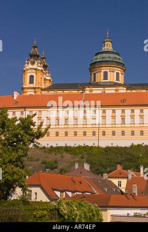 MELK Österreich Stift Melk Benediktiner-Abtei Donau River Valley - Stockfoto