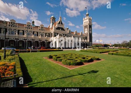 Dunedin Railway Station Dunedin Neuseeland Südinsel - Stockfoto