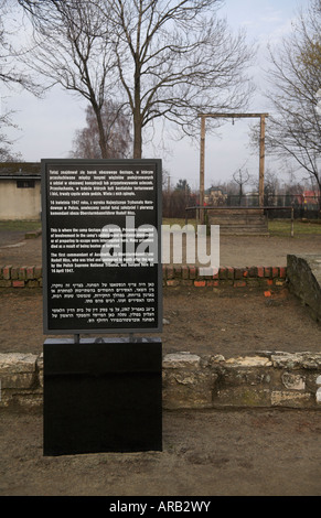 Auschwitz KZ Auschwitz Polen Galgen Erfüllungsort hängen - Stockfoto