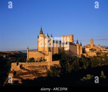 Der Alcazar und Kathedrale, Segovia, Kastilien-León, Spanien - Stockfoto