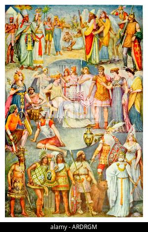 Antike Kleidung. Antike Darstellung. 1920 - Stockfoto