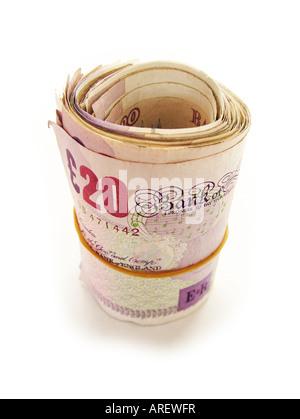 Englischer Sprache Geld - Stockfoto