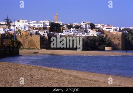 Kasbah des Oudaias Udayas Rabat Fluss Oued Bou Regreg Rabat-Salé-Zemmour-Zaer Region Western Marokko Nordafrika - Stockfoto