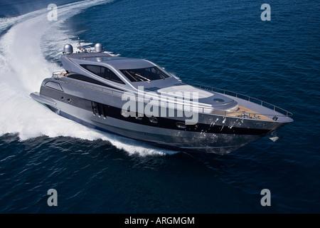 Luftaufnahme der Luxus-Yacht - Stockfoto