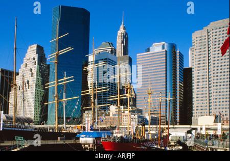 South Street Seaport, New York, USA - Stockfoto