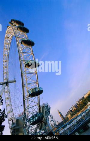 Das London Eye (Millennium Wheel), Themse, London, England, UK, Europa - Stockfoto