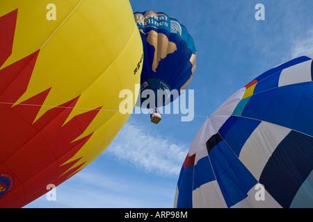 Heißluft Ballons Festival am Chateau d Oex - Stockfoto