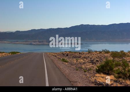 Weg zum Lake Mead, in der Nähe von Las Vegas NV - Stockfoto