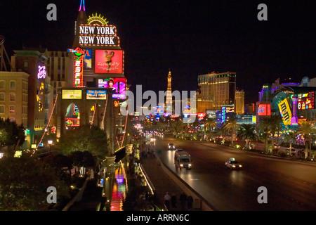 südlichen Ende des Las Vegas Strip in der Nähe von New York, NY - Stockfoto