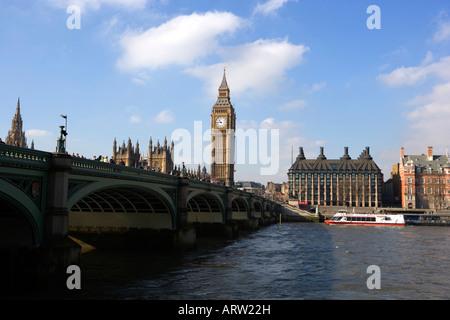 Westminster Brücke Häuser des Parlaments big Ben Themse - Stockfoto