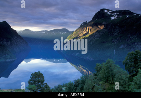 Gerainger Fjord-Norwegen - Stockfoto