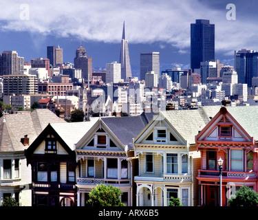 USA - Kalifornien: Alamo Square in San Francisco - Stockfoto