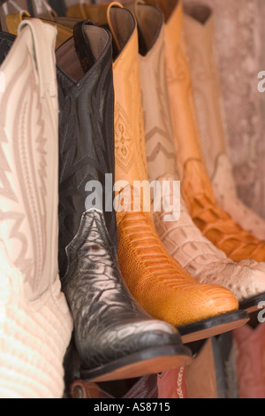 Krokodil Cowboy Stiefel aus Leder Stockfoto, Bild: 168900075