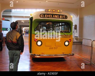 Bus wo Rosa Parks verhaftet wurde im Henry Ford Museum - Stockfoto