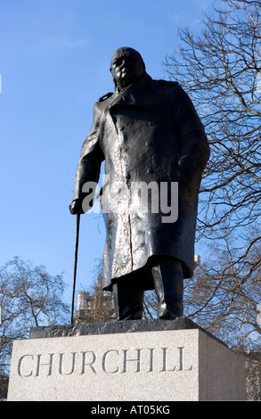 Premierminister Sir Winston Churchill Westminster Parlament Square London sw1 - Stockfoto