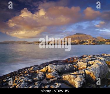 IE - CONNEMARA: Küste bei Lettergesh - Stockfoto