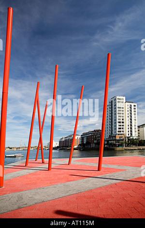 Irland Dublin Docks Irland Charlotte Kai Wiederentwicklung - Stockfoto