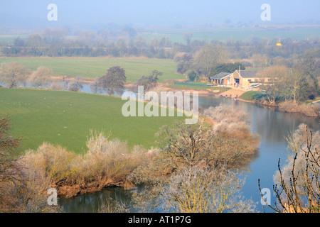Fluss Wye von Ross auf Wye Herefordshire England uk gb