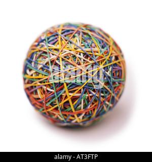 Ein Ball aus Gummibändern hergestellt - Stockfoto