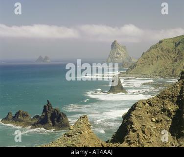 Geographie / Reisen, Spanien, Kanarische Inseln, Teneriffa, Taganana Roques, Anaga-Gebirge, Landschaft, Landschaften, - Stockfoto