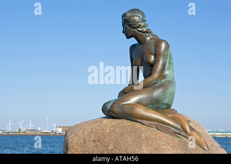 Kopenhagen Dänemark The Little Mermaid statue - Stockfoto