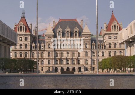 Die New York State Capitol Gebäude entworfen von H H Richardson Albany modelliert nach dem Hotel de Ville in Paris - Stockfoto