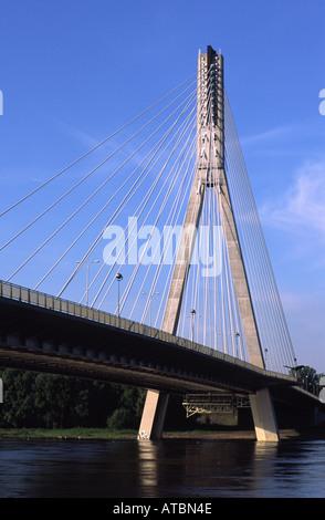 Swietokrzyzki Brücke über die Weichsel. Warschau, Polen - Stockfoto