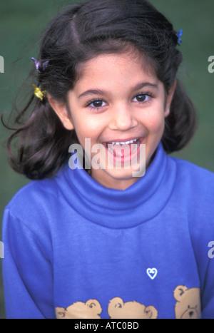5 Jahre altes tahitianische Mädchen - Stockfoto