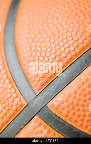Detail der Basketball hautnah - Stockfoto