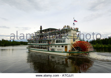 Riverboat Discovery III Chena River Fairbanks Alaska - Stockfoto
