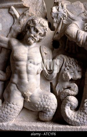 Antique Museum Istanbul Archeologica-alte Museum Athena kämpft Riesen - Stockfoto