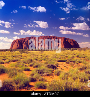 Berühmten Uluru Ayers Rock in Zentral-Australien - Stockfoto