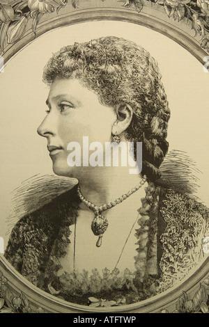 Ihre Königliche Hoheit Prinzessin Beatrice Tochter von Königin Victoria im Jahre 1885 veröffentlicht - Stockfoto