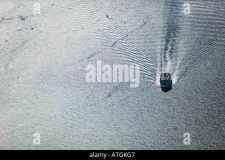Luftbild-Boot in Johnstone Strait Vancouver Island British Co - Stockfoto
