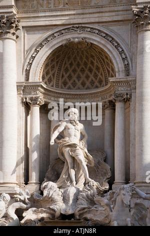 Fontana di Trevi Rom Italien - Stockfoto