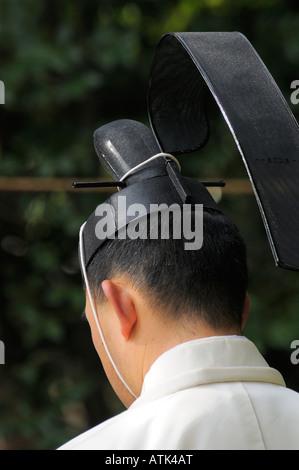 Buddhistische Mönche bereiten Sie sich auf die daikokuten Zeremonie, Kamakura JP - Stockfoto