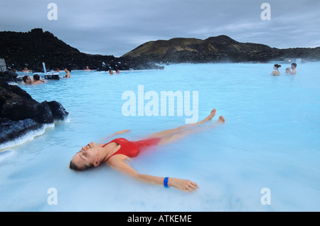 Blaue Lagune in Island. - Stockfoto