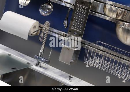 Franke Active Kuche Edelstahl Spule Und Zubehor Stockfoto Bild