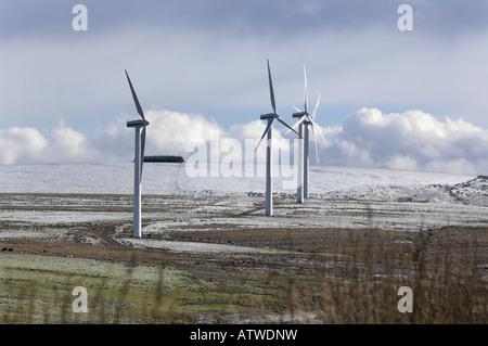 Windfarm grüne Energie Produktion Windkraftanlagen schottischen grenzt an Schottland - Stockfoto