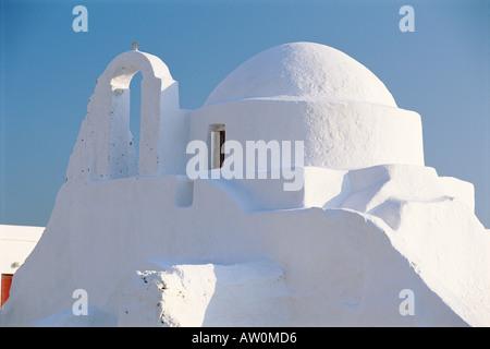 Kirche der Panagia Paraportiani, Insel Mykonos, Hora, Kykladen, Griechenland, Europa - Stockfoto
