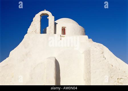 Griechenland, Kykladen, Mykonos (Chora) Kirche der Panagia Paraportiani - Stockfoto