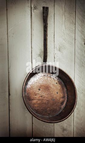 Pfannen Aufhängen kupfer pfanne aufhängen stockfoto bild 37980042 alamy