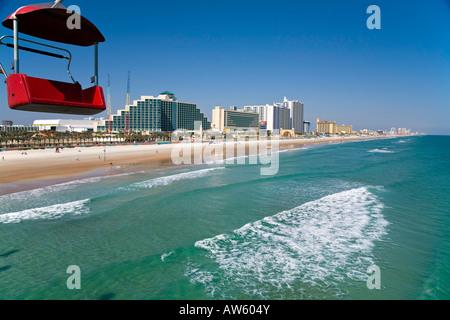Hotels und Beherbergungsbetriebe am Strand von Daytona Beach In Florida USA - Stockfoto