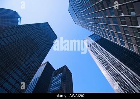 Wolkenkratzer in New York New York - Stockfoto