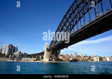 Sydney Harbour Bridge, Australien, Blick nach Norden - Stockfoto