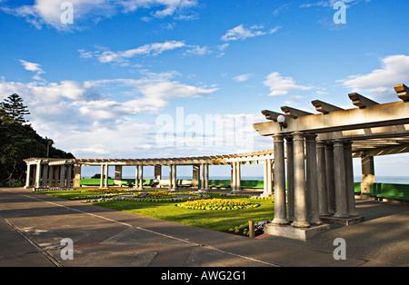 Öffentlichen Platz in der Art-Deco-Stadt Napier, Nordinsel, Neuseeland - Stockfoto